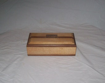 Ash with Rosewood inlay 4 x 8 box Keepsake box or Treasure box Handcrafted in the USA