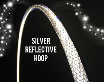 """Silver Reflective HDPE or Polypro 5/8"""" 3/4"""" Dance & Exercise Hula Hoop - NOT an LED hoop white"""