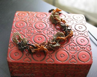 Abstract Beaded Bracelet by Denise Sloan