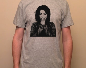 BJORK, Björk, Debut, Alternative, Electronic music- screen printed T-shirt