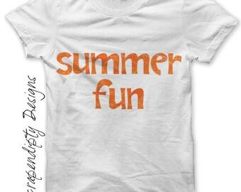 Summer Iron on Shirt PDF - Girls Iron on Transfer / Cute Kids Clothes / Womens Summer Shirt / Boys Beach Tshirt / Kids Girls Clothing IT87