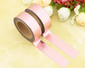 Rose Gold Foil Washi Masking Tape Rose Gold Decorative Tape
