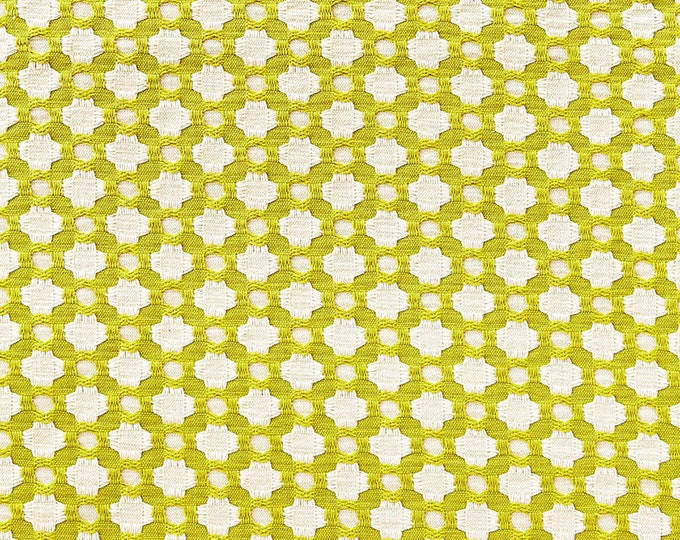 Schumacher Betwixt in Chartreuse and Ivory Designer Pillow Cover -Both Sides or Front Only - Square, Euro and Lumbar Sizes