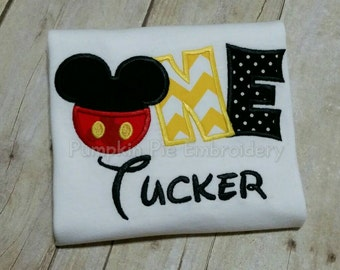 Mickey Mouse ONE Birthday Shirt