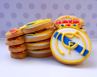 Real Madrid Soccer Cookies