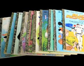 Surprise Lot Little Golden Books Pack, Old Kids Books Bundle, Vintage Disney Books, Story Books with Free Book Bag