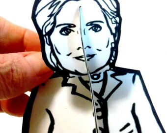 Hillary Clinton Paper Doll - Printable Toy