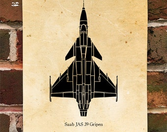 KillerBeeMoto: Saab JAS 39 Gripen Fighter Jet Print