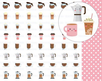 60% OFF COFFEE planner stickers, coffee stickers, printable planner stickers, planner accesories, cute stickers,  Erin Condred, filofax