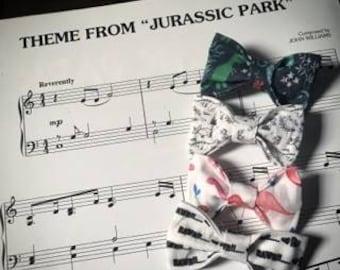 Dinosaurs/Hair Bows/Hair Accessories/Holiday Hair Bows/Hair Clips/Baby Girl/toddler Hair Bows/Fabric Hair Bows/Watercolor/Dinosaur Clip Set
