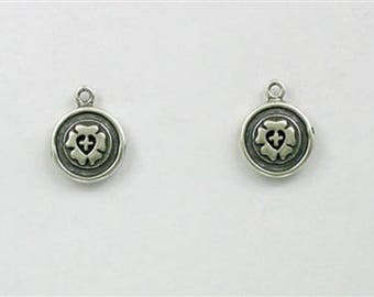 Sterling Silver 3-D Lutheran Symbol Charm