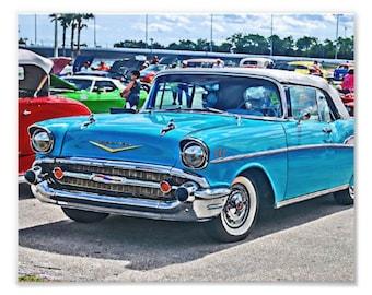 Bel Air Tri-Five Chevrolet Art Print, Hot Rod Art, Hotrod Print, Hotrod Art, Custom Car Art, Wall Art Print, Bel Air Art, Art for Car Guys