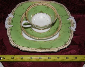 Grosvenor Ye Old English Cup, Saucer and Square Plate