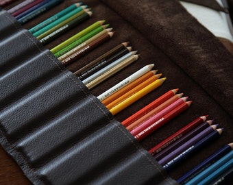 Leather Pencil Roll NAME PLATE