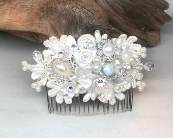 Wedding Hair Accessories- Bridal Hair Comb- Bridal Hair Accessories- Wedding Hairpiece- Vintage Inspired Hair Piece-  Wedding Hair Comb
