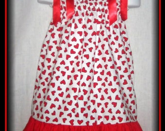CLEARANCE SALE Size 24M/2T Valentine Hearts Boutique Pillowcase Dress w/ Red Layer