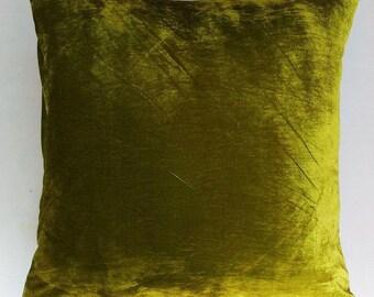 Lime green velvet  floor pillow. decorative  euro sham.  luxury velvet  pillow. Vasabi  green velvet pillow silk velvet  22,24,26 inches