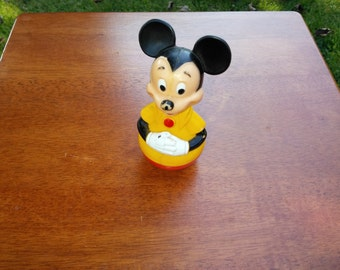 Vintage Mickey Mouse Rolly Polly Toy - Vintage Mickey Mouse Toy