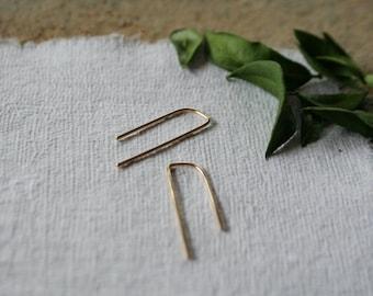 Simple Hoops, Gold Fill Hoop Earrings, Minimalist Hoops, Medium Sized Hoops, Geometic Hoop Earrings, CORNER