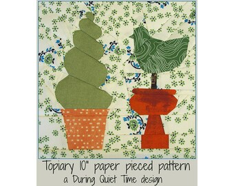 Topiary Paper Pieced Pattern