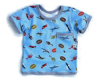 Baby Boy Cotton T-Shirt, Infant Boy Cotton Shirt, Baby Boy Summer Clothes,  Baby Boy Gift