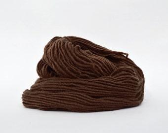Earth Brown Weaving Yarn, Navajo Weaving Yarn, Wool Yarn, 4oz skein