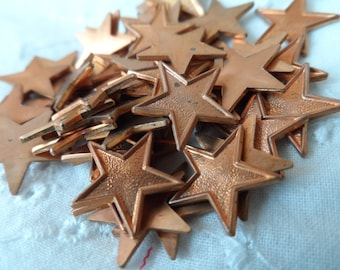 """Copper coated solid stars,1/2""""no ring,52pcs-KC514"""