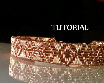 TUTORIAL - Diamond Weave Copper Bracelet