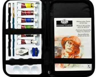 Watercolor Paint Tubes Travel Set In Zippered Carrying Case, Watercolor Kit With Case For Beginner Water Paint Or Gift For Beginning Artists