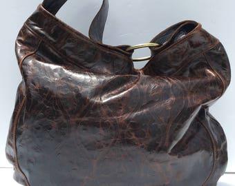 Large Leather Hobo Bag, BoHo Leather Hobo, Large Brown Leather Bag, Leather Hobo Bag, Large Leather Purse, Large Leather Purse, Brown Hobo