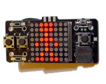 LSP64 - LED 8x8 matrix handheld retro Game console - 8 games