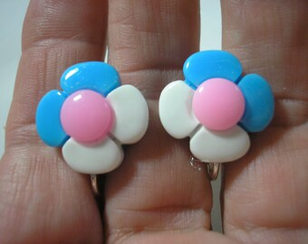"Play Earring - Clip - Flower - 1/2"""