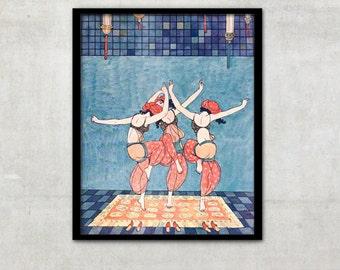 "Art Deco print vintage style fashion illustration, ""Shéhérazade"" by George Barbier, IL031."