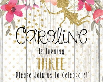 Woodland Fairy Birthday Invite