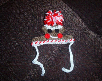 GINGERBREAD MAN Christmas Pet Hat - 2 to 20 lb dog or cat