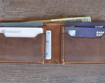 Leather Men Wallet, Men's Wallet, Minimalist Leather Wallet, Slim Leather Wallet, Distressed Leather Wallet, Groomsmen Gifts, gift for him