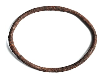 Antique hand forged Iron bangle bracelet   barn find   reclaimed   eco-friendly   consumer-friendly   rusty   found art   art jewelry