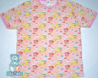 Adult Baby babies w/bunny caps snap shoulder baby shirt ABDL