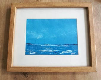 Seascape 3s - Emotional, Art, Photographic Print, mounted, surf, wave art, print, mount, blue