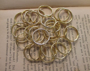 Lot of 40 24mm Split Rings - Perfect for Key Chains