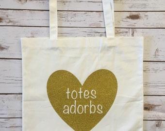 Totes Adorbs Heart Tote