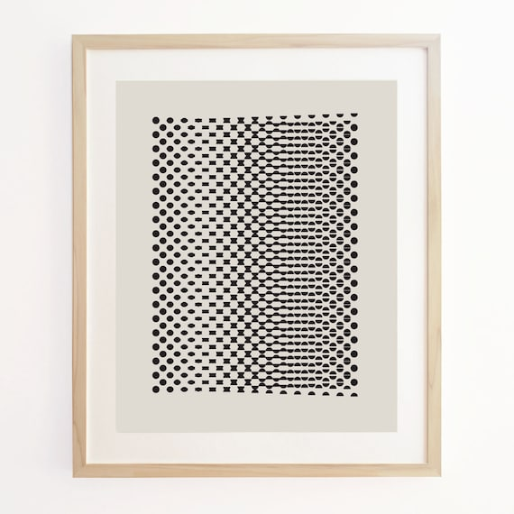 Geo Motion 3 - Geometric Pattern Screenprint. Art Poster Print.