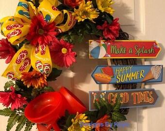 Vacation Theme Wreath