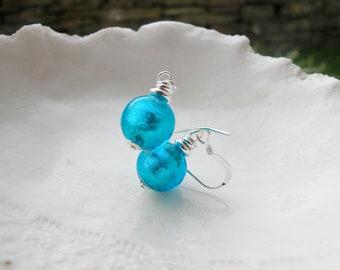 10mm Murano Glass Earrings, Small Murano Earrings