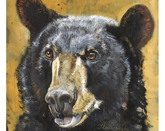 Perturbed (Fine Art Print not a real Black Bear)
