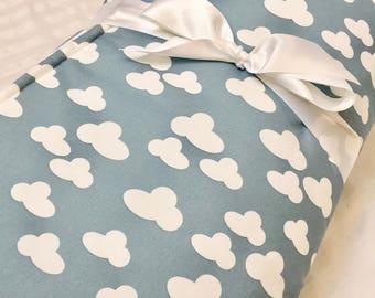 Organic, Padded, Baby Play Mat, Clouds, Sky, Floor Mat, Blue, Activity Mat, Nursery, Bedding, Baby Quilt, Baby Gift, Tummy Time Mat, Playmat