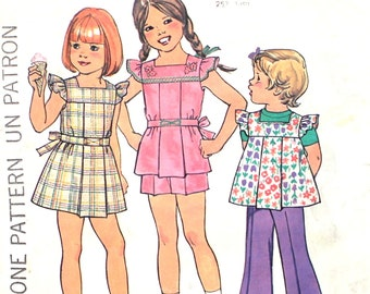Girl's Dress, Top and Pants Size 5 Simplicity 7459