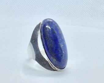 Lapis lazuli on Sterling silver