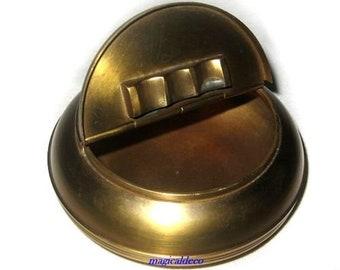 Folding ashtray - brushed brass - 10 cm - no polishing ashtray *