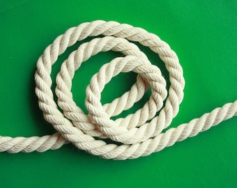 6 mm Cotton Rope = 100 Meter = 110 Yards Natural and Elegant COTTON TWISTED CORD Macrame Rope Cotton Yarn Macrame Plant Hanger Macrame Cord
